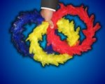 Color Changing Feather Wreaths
